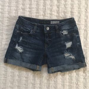 Aeropostale midi denim shorts